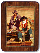 Coach Mixed Media - Marquetry of N.C. Wyeths Pay Stage by Carl Snyder
