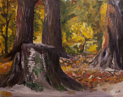 Marr Park Trees Of Fall Print by Art Hill Studios