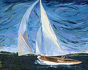 Sailboat Posters - Marraige Poster by Impressionism Modern and Contemporary Art  By Gregory A Page