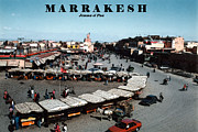 Town Center Prints - MARRAKESH--Jemma el Fna Print by Linda  Parker