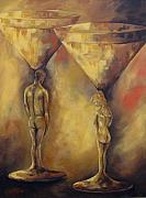 Torrie Smiley Metal Prints - Marriage of the Martinis  Metal Print by Torrie Smiley