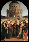Virgin Mary Framed Prints - Marriage of the Virgin - 1504 Framed Print by Raphael