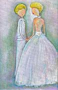 Lesbian Paintings - Marry Me by Ricky Sencion