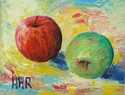 Switzerland Mixed Media - Mars Apples by Dan Haraga