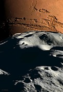 Phobos Prints - Mars As Seen From Phobos, Artwork Print by Detlev Van Ravenswaay