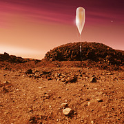 Spacecraft Photos - Mars Balloon Exploration by Detlev Van Ravenswaay