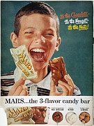 Incorporated Prints - Mars Bar Ad, 1957 Print by Granger
