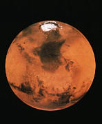 Planet Mars Framed Prints - Mars Northern Hemisphere Framed Print by Us Geological Survey