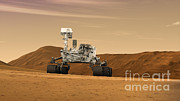 Artist Rendering Framed Prints - Mars Rover Curiosity, Artists Rendering Framed Print by NASA/Science Source
