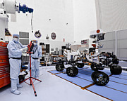 Ksc: K.s.c. Art - Mars Rover CURIOSITY in JPL Clean Room by Chris Haber