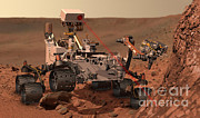 Examine Prints - Mars Rover Firing Laser Print by NASA/Science Source