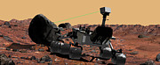 Laser Beam Prints - Mars Science Laboratory Print by Stocktrek Images