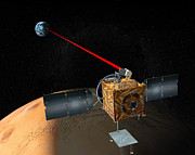 Laser Beam Prints - Mars Telecommunications Orbiter Print by Stocktrek Images