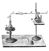 Law Enforcement Art Prints - Marsh Test Apparatus, 1867 Print by Science Source