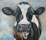 Cows Acrylic Prints - Marsha Acrylic Print by Laura Carey