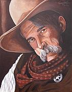 Cowboy Painting Originals - Marshall Bill Speaks by Kenneth Kelsoe