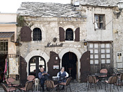 Mostar Framed Prints - Marshall cafe bar in Mostar Framed Print by Radoslav Rundic