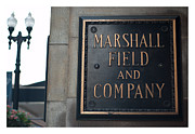 Chicago Landmark Prints - Marshall Field store sign Print by Patrick  Warneka