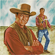 Western Prints - Marshall Mat Dillon Print by Dick Bobnick