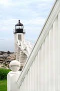 New England Lighthouse Framed Prints - Marshall Point Framed Print by Darren Fisher