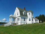 Port Clyde Originals - Marshall Point Light Lighthouse Keepers Cottage  by Joseph Rennie