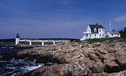 Maine Lighthouses Posters - Marshall Point Light Poster by Skip Willits