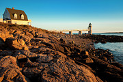 Maine Shore Posters - Marshall Point Lighthouse Poster by Brian Jannsen