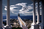Lighthouse Artwork Posters - Marshall Point Lighthouse Maine Poster by Skip Willits