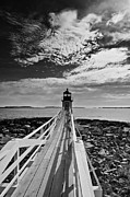 Maine Photographs Prints - Marshall Point Skyline Print by Chad Tracy