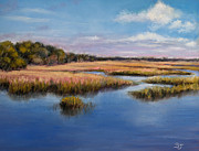 Florida Pastels - Marshland in Florida by Susan Jenkins
