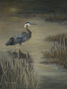 Patricia Mansell - Marshlands Wader-Great...