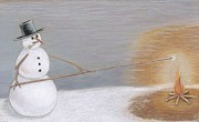 Christmas Decoration Originals - Marshmellow for a Snowman by H C Denney