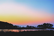 Kelly Photo Prints - Marshy Sunset Print by Kelly Reber