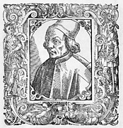 Woodcut Photo Framed Prints - Marsilio Ficino, Italian Philosopher Framed Print by Middle Temple Library