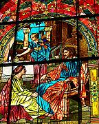 Christ Teaching Prints - Martha and Mary Print by Diane E Berry
