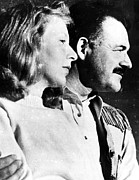 Husband Posters - Martha Gellhorn And Ernest Hemingway Poster by Everett