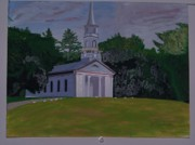 Sudbury Ma Painting Metal Prints - Martha Mary Chapel Metal Print by William Demboski