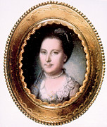 Martha Washington Framed Prints - Martha Washington 1731-1802, First Lady Framed Print by Everett