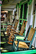 Rocking Chairs Posters - Marthas Rocking Chairs Poster by Judy Ollila