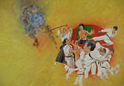 Bruce Lee Painting Originals - Martial Arts by Cliff Spohn