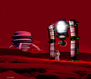 Colonisation Prints - Martian Colony Print by Victor Habbick Visions
