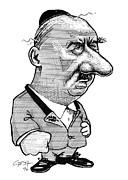 Caricature Portraits Posters - Martin Heidegger, Caricature Poster by Gary Brown