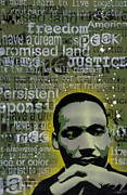 Paint Drips Framed Prints - Martin Luther King Framed Print by Iosua Tai Taeoalii