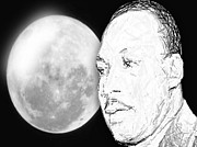 Martin Luther King Jr Digital Art Prints - Martin Luther King Jr Print by Belinda Threeths