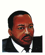 American Clergyman Drawings Prints - Martin Luther King Jr Print by Emmanuel Baliyanga