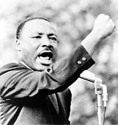 Racism Metal Prints - Martin Luther King, Jr., Gesturing Metal Print by Everett