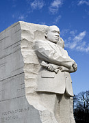 Memorials Prints - Martin Luther King Jr Memorial in Washington DC Print by Brendan Reals