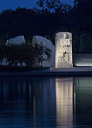 Martin Luther Photos - Martin Luther King Jr Memorial Overlooking the Tidal Basin - Washington DC by Brendan Reals