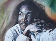 Politics Paintings - Martin Luther King Jr  MLK by Lee Madrid