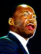 Martin Luther King Jr Drawings Posters - Martin Luther King Jr. Poster by Paul Van Scott